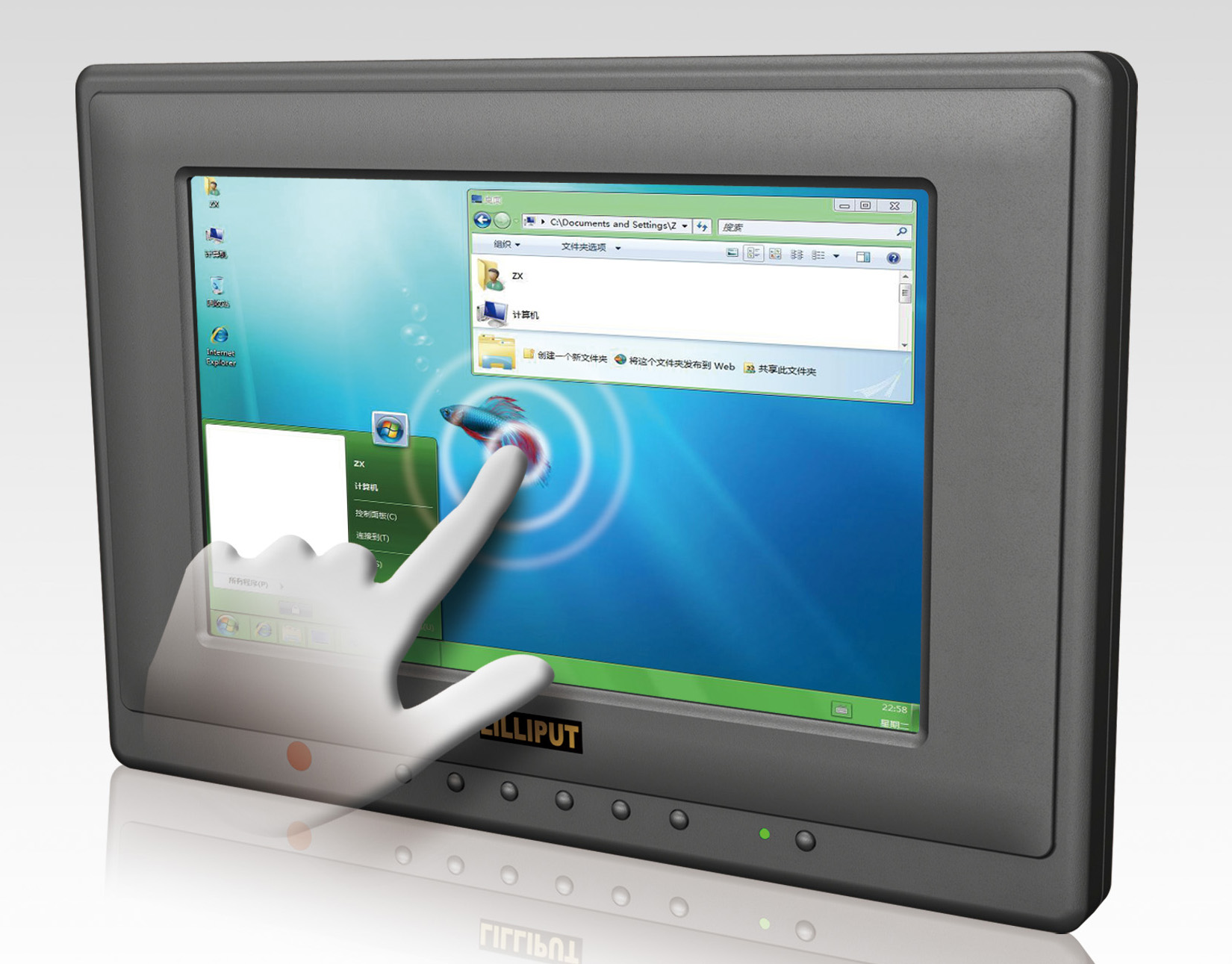 Lilliput Europe 659gl 70np C T 7 Inch Monitor With Surface Touch Screen Technology Working Acoustic Wave Hdmi And Vga
