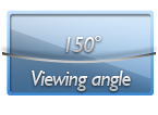 150 degrees viewing angle