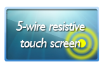 10 inch monitor with 5-wire resistive touch screen